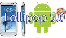 Samsung Galaxy S3 con Android 5.0 Lollipop