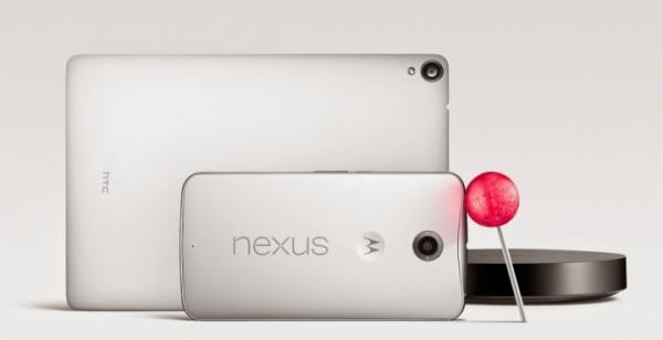Nexus con Android 5.0 Lollipop