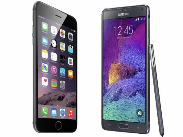 Galaxy Note 4 vs iPhone 6