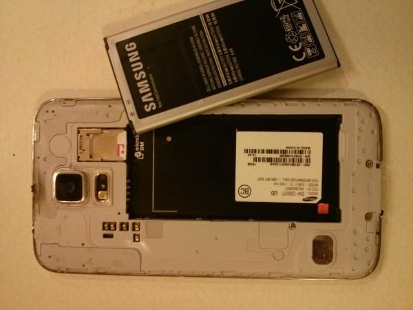 Samsung Galaxy S5 quemado