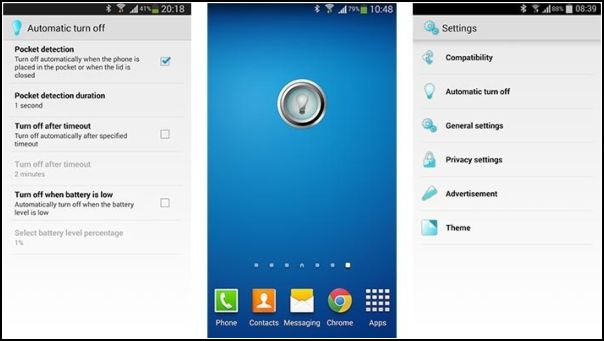 Flashlight by SimGears: Linterna Android