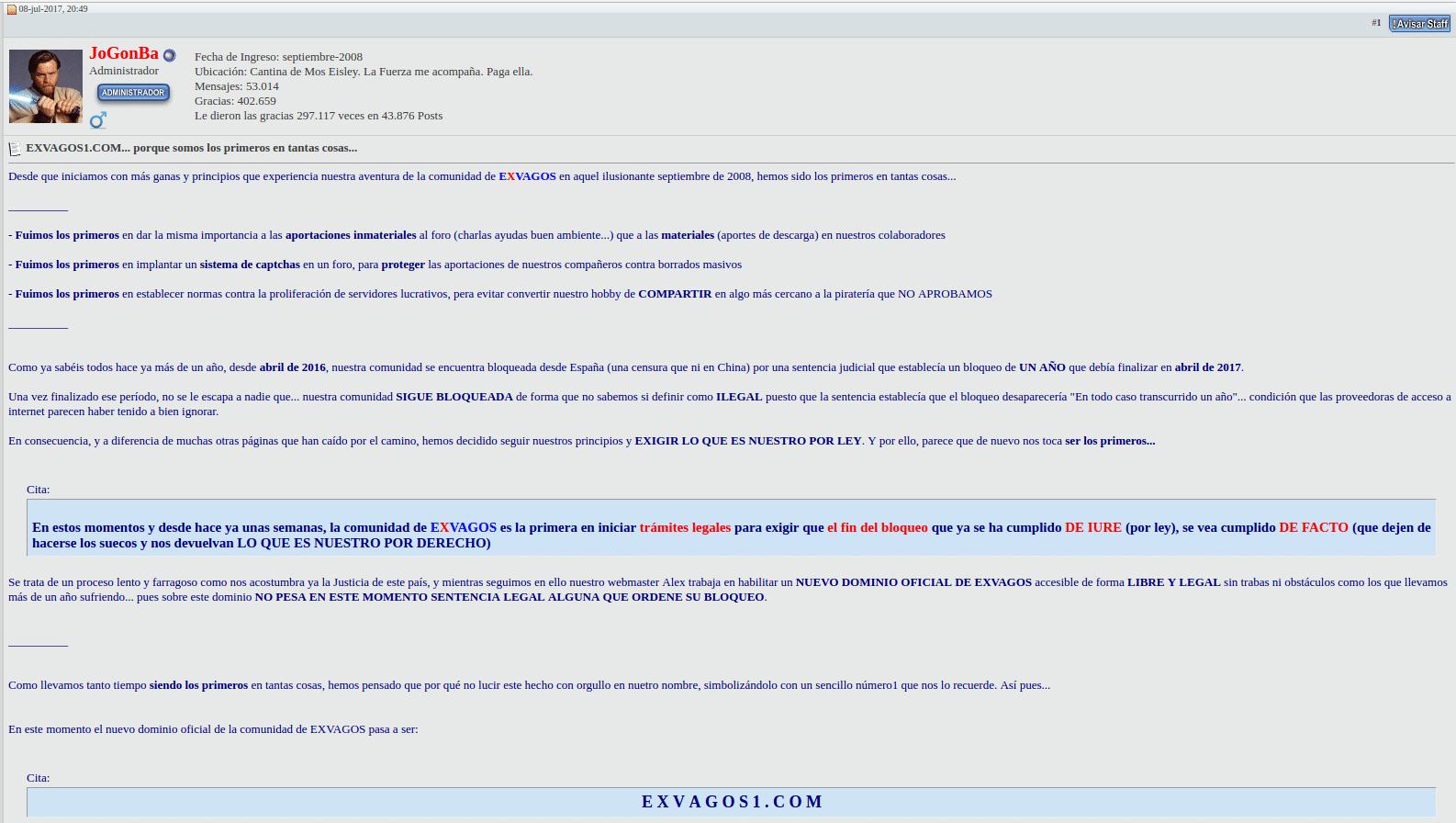 comunicado de exvagos1.com