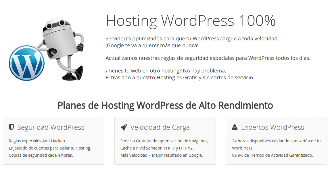 hosting wordpress webempresa