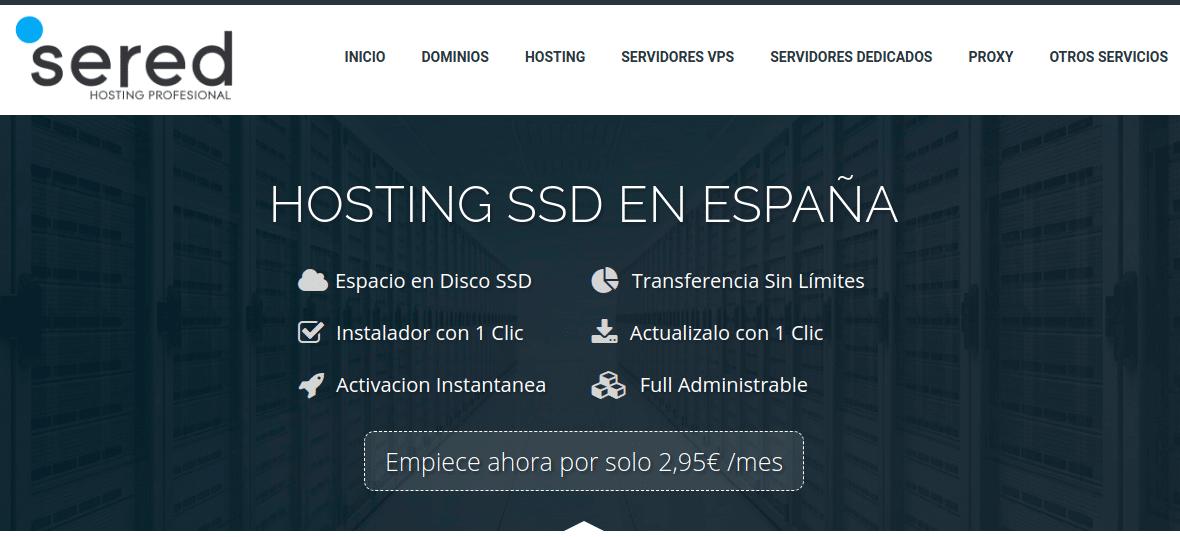 sered hosting españa