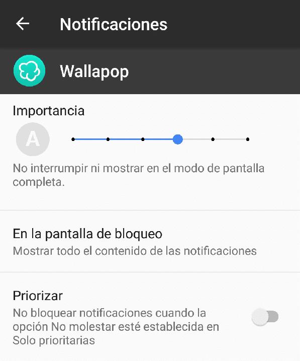 notificaciones de Wallapop