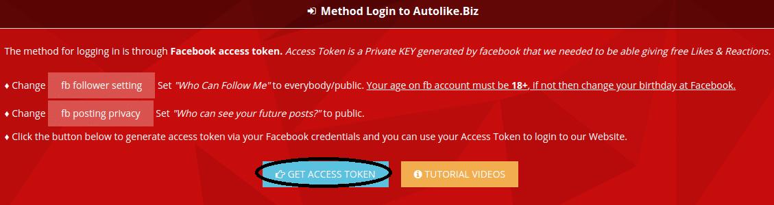 get access token
