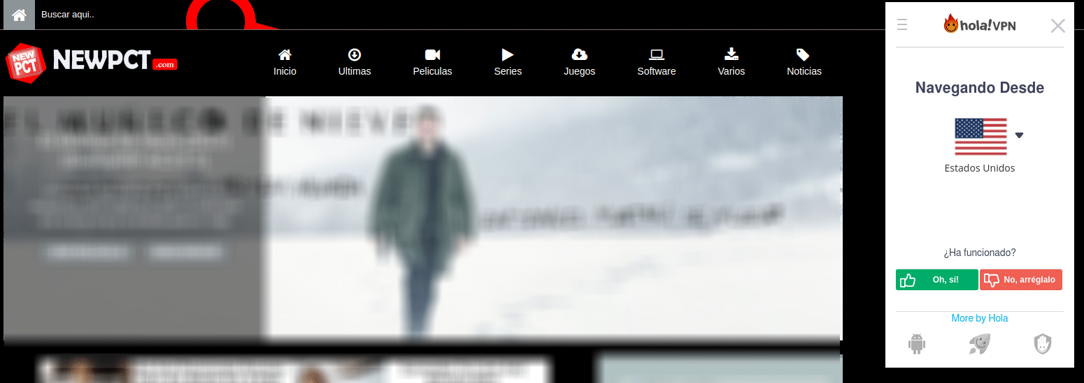 newpct.com en Hola! VPN