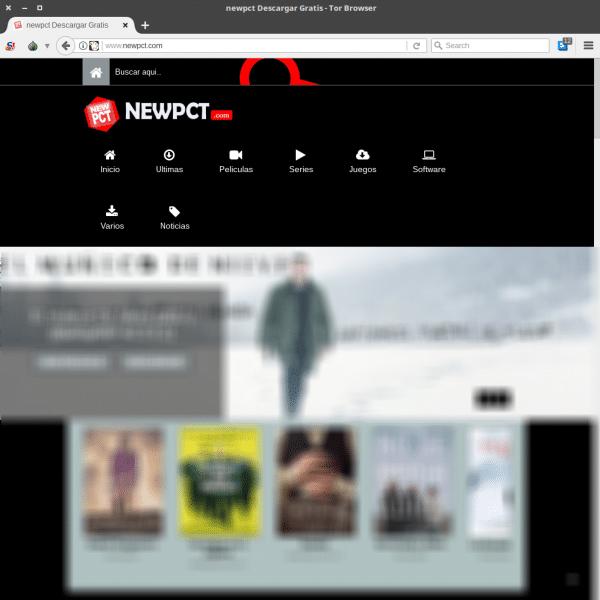newpct en Tor Browser