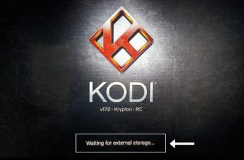 waiting for external storage en Kodi