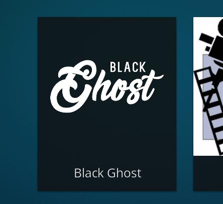black ghost addon para kodi