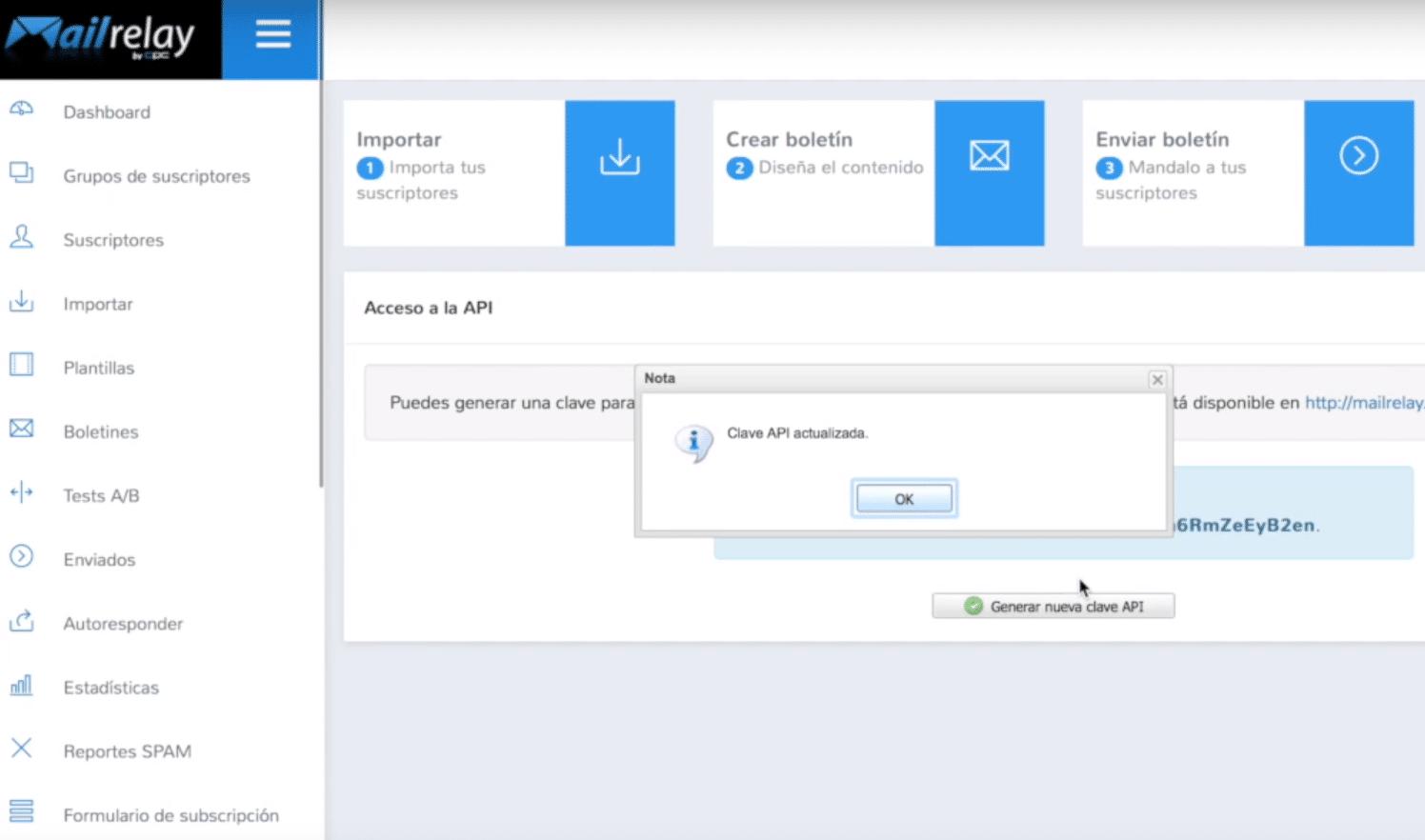 generar clave API