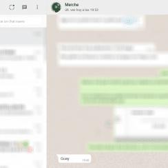 mensaje no leído de WhatsApp