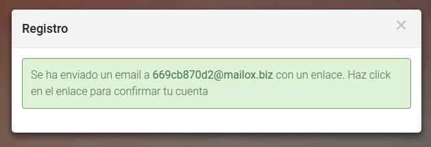correo enviado