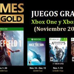 games with gold noviembre 2018 juegos gratis xbox one