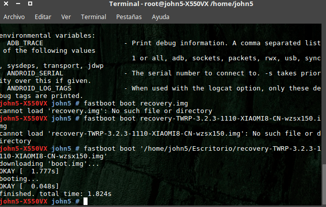 fastboot recovery boot
