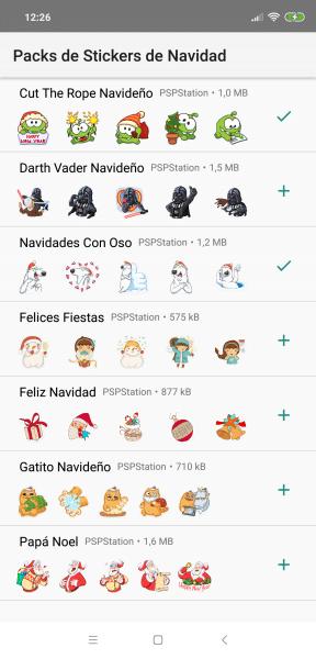 stickers de navidad 2018