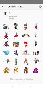 Stickers de Dragon Ball Super