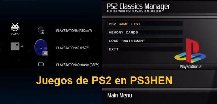 Tutorial) Juegos de PS2 en cualquier PS3 con PS3HEN