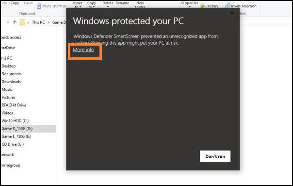 desactivar SmartScreen